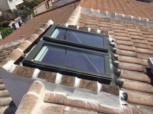 cristaleria pelayo instala ventana para tejado