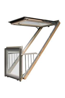 ventanas de tejado balcón