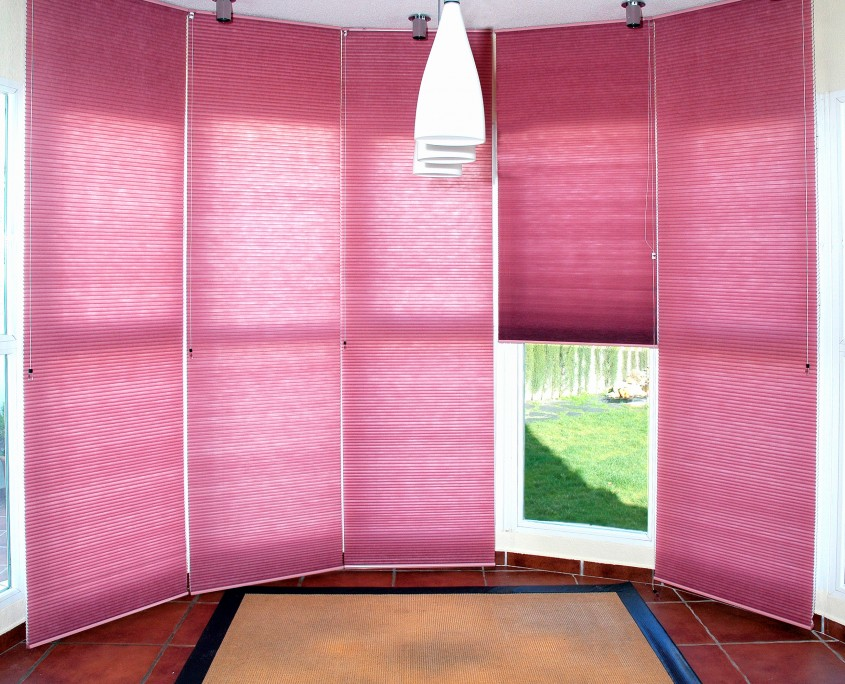 cortinas plisadas