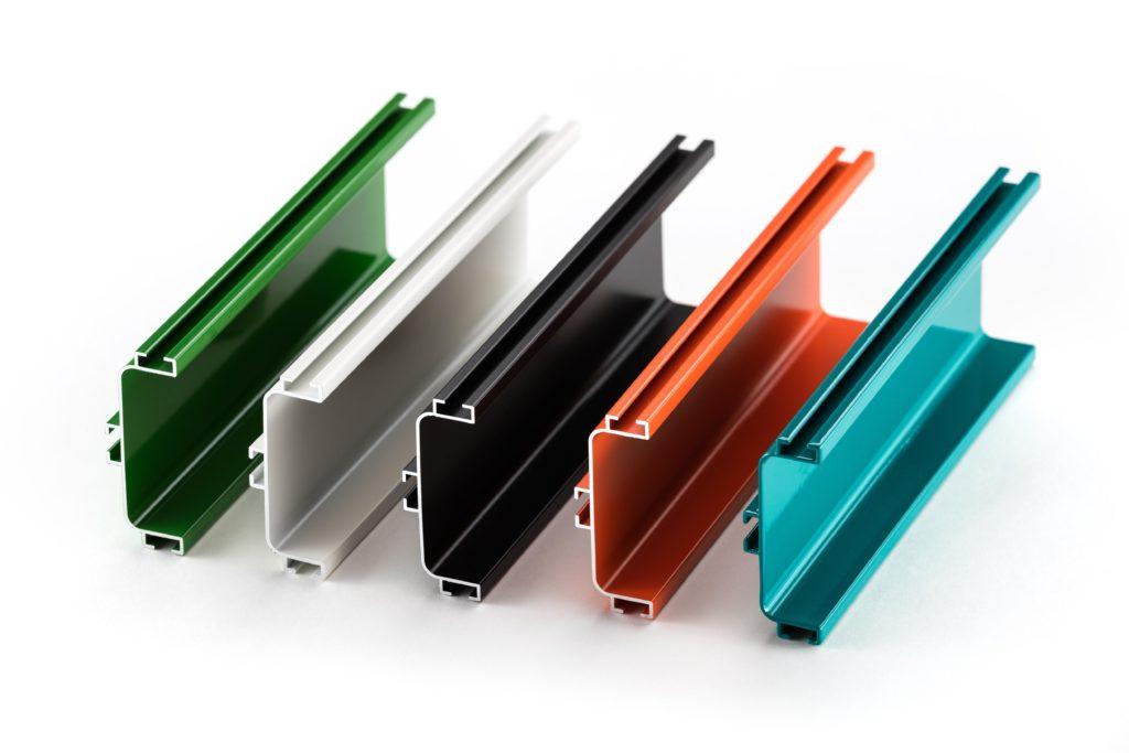 Muestra De Aluminio De Colores